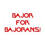 Bajor for Bajorans 35x21 Wall Decal