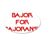 Bajor for Bajorans 20x12 Oval Wall Decal