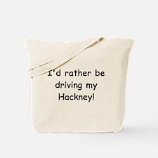 Driving my Hackney Tote Bag
