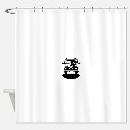 T1 Bus - Bullirider (only) Shower Curtain