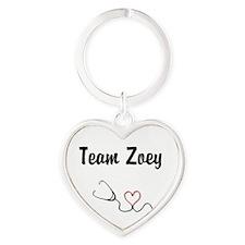 Team Zoey Heart Keychain