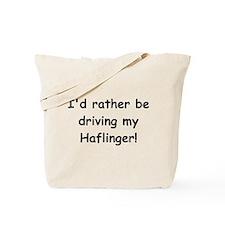 Driving my Haflinger Tote Bag