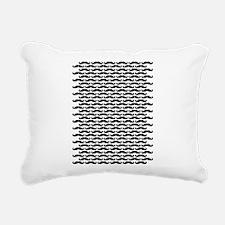 Mustache pattern Rectangular Canvas Pillow