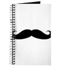 Funny black handlebar mustache Journal