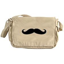Funny black handlebar mustache Messenger Bag