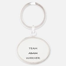 Team Adam Warner Oval Keychain