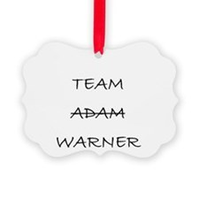 Team Adam Warner Ornament