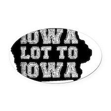 Iowa Lot To Iowa Oval Car Magnet