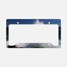 crashing waves License Plate Holder