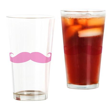 Funny pink handlebar mustache Drinking Glass