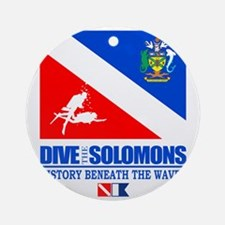 Dive the Solomons Round Ornament