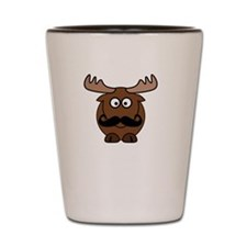 Moosestache Shot Glass