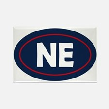 New England Oval Rectangle Magnet