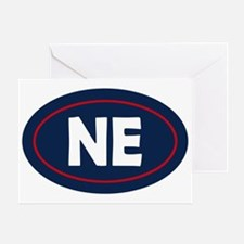 New England Oval Greeting Card