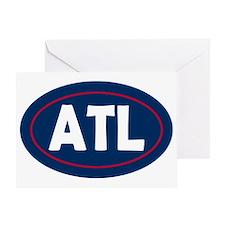 Atlanta Oval Greeting Card