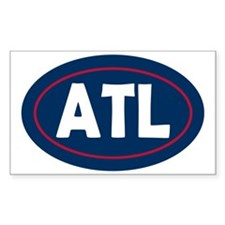 Atlanta Oval Decal