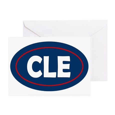 Cleveland Oval Greeting Card