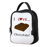 I Love Chocolate Neoprene Lunch Bag