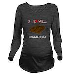 I Love Chocolate Long Sleeve Maternity T-Shirt