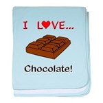 I Love Chocolate baby blanket