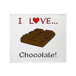 I Love Chocolate Throw Blanket