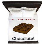 I Love Chocolate King Duvet
