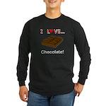 I Love Chocolate Long Sleeve Dark T-Shirt
