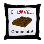 I Love Chocolate Throw Pillow