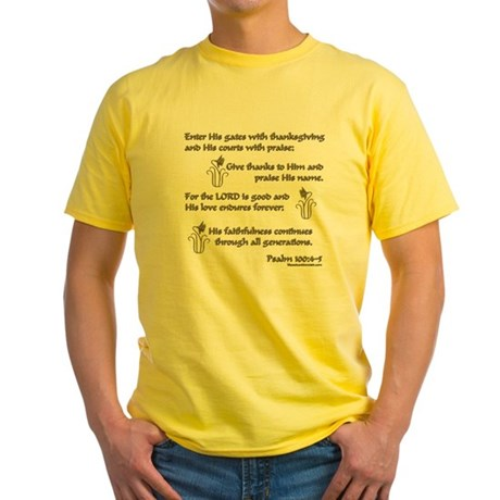 Psalm 100 Yellow T-Shirt