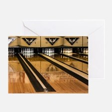 The Bowling Alley Greeting Card