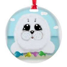 baby-Seal-(txt) Ornament