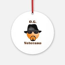 Original Gangster / Veterano Smilie Ornament (Roun
