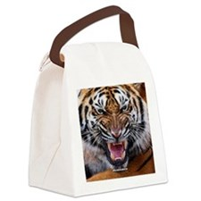 Tiger Mad Canvas Lunch Bag