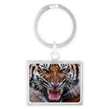 Tiger Mad Landscape Keychain