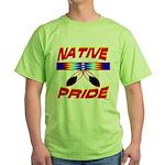 NATIVE PRIDE Green T-Shirt