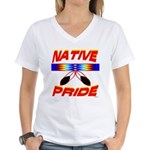 NATIVE PRIDE Women's V-Neck T-Shirt
