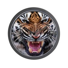 Tigers, Big Cat Football Wall Clock