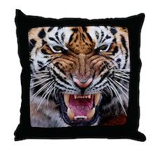 Tigers, Big Cat Football Throw Pillow
