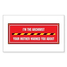 I'm the Archivist Rectangle Decal