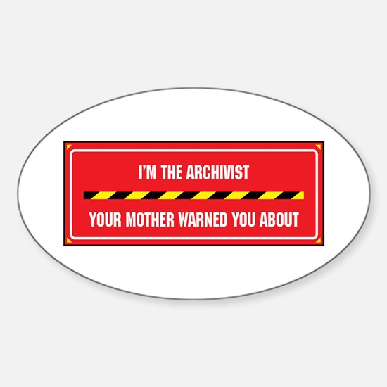 I'm the Archivist Oval Decal