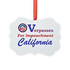 Overpasses for Impeachment Califo Ornament