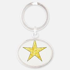 Hollywood California Star Oval Keychain
