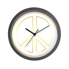 Glowing Peace Wall Clock