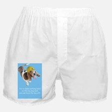 Basset Hound Birthday with Hard Hat Boxer Shorts