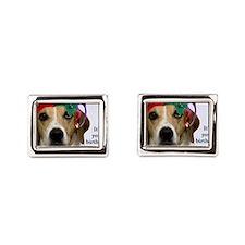 Beagle Birthday Card Cufflinks