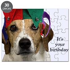 Beagle Birthday Card Puzzle