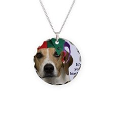 Beagle Birthday Card Necklace