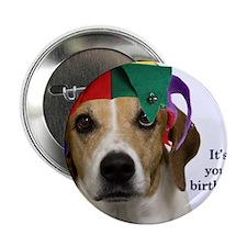 "Beagle Birthday Card 2.25"" Button"