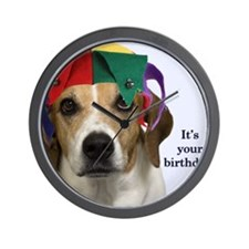 Beagle Birthday Card Wall Clock