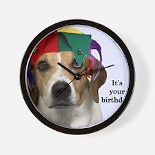Beagle Birthday Card Wall Clock